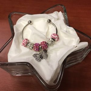 Jewelry - Custom Crafted Beaded Bracelet- Pink